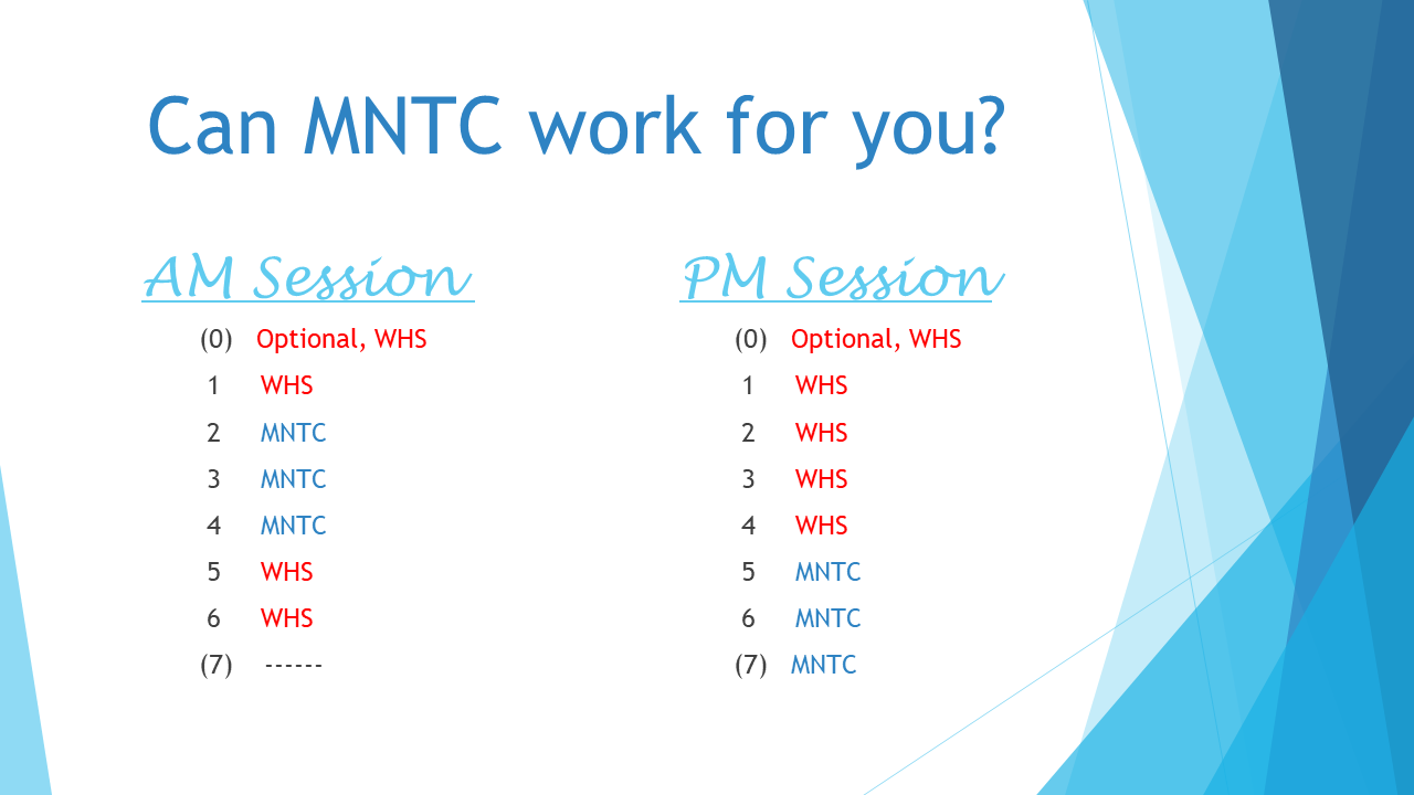 Can MNTC work for you?