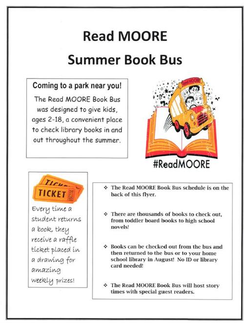 Read MOORE Summer Book Bus