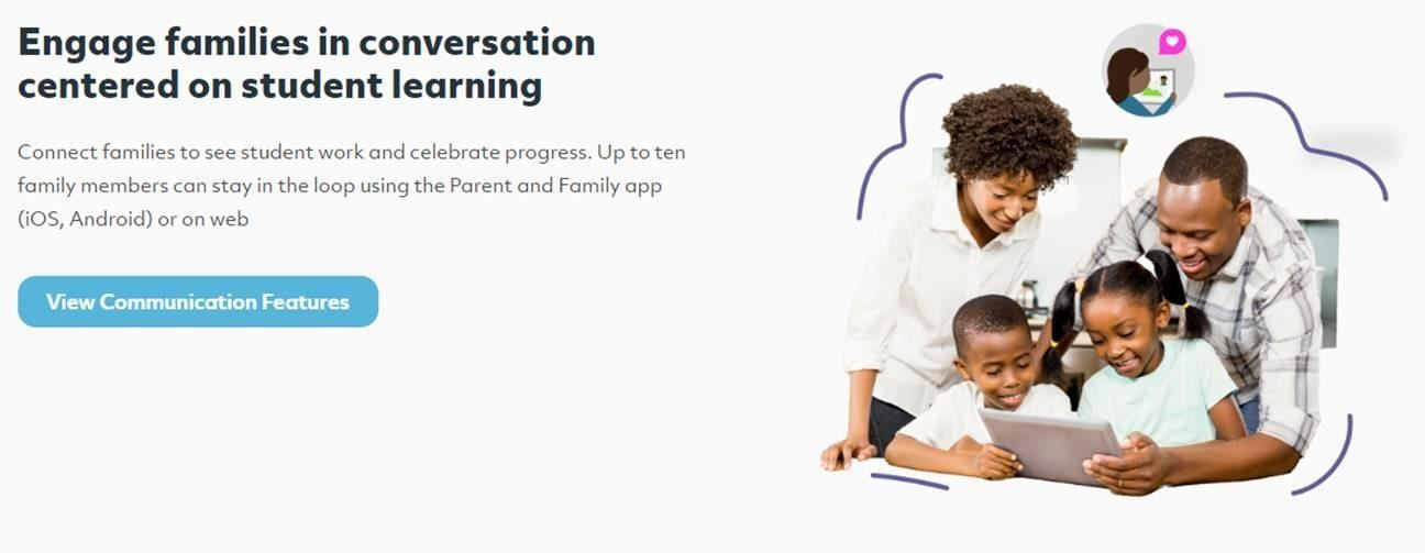 Engage families in conversation centered on student learning