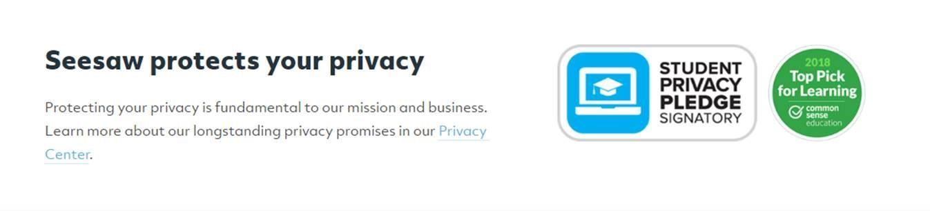 Seesaw protects your privacy