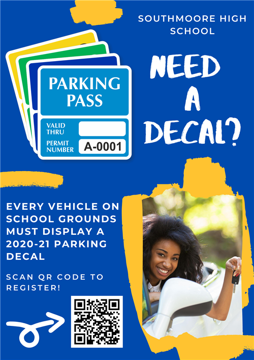 Parking Decal Poster