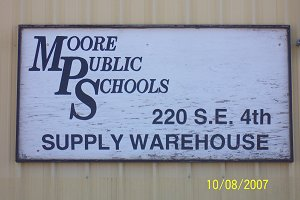 MPS Supply Warehouse Sign