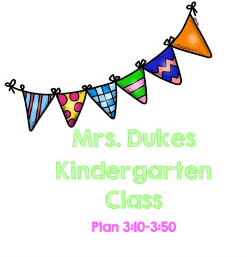 Kindergarten / Kindergarten Home Page